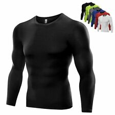Mens Compression Under Base Layer Top Tight Long Sleeve T-Shirts Sports Shirt