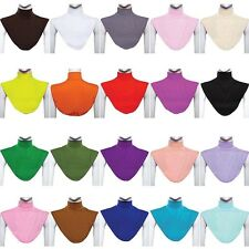 Womens Modal Muslim Moslem Hijab Islamic Turtleneck Neck Cover Dickey Collar Bib