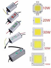 10W 20W 30W 50W 100W  LED SMD Chip Bulbs High Power Waterproof LED Driver Supply