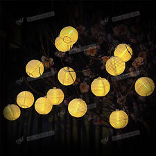 Solar Power LED Garden Tree Christmas Decor String Fairy Ball Lights Wedding UK