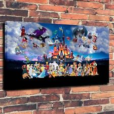 "Art Canvas Print Oil Painting Castle Cartoon Characters 16""x24"""