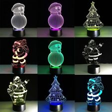 3D Atmosphere Night Light 7 Color Change LED Art Desk Table Lamp For Toy Gift