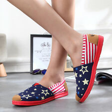Women Lady Low Top Casual Canvas Shoes Sneakers Running Breathable Leisure Flats