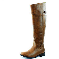 Breckelle Rider-82 Over Knee High Fashion Combat Thigh High Dress Casual Boots