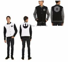 Disney Star Wars The Force Awakens Imperial/Rebel Logo Reversible Varsity Jacket