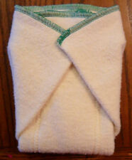 New Hemp Organic Cotton Fleece Prefold  (10 x 13) cloth diapers Emerald Trim