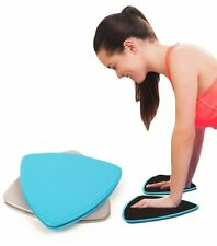 2x Exercise Sliding Gliding Discs Fitness Core Sliders Sport Full Body Workout
