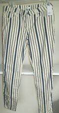NWT LADIES SIZE 28 JOIE STRETCH DEMIN STRIPED JEANS MSRP 198.00