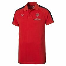 Official Arsenal Puma Mens Gents Football Soccer Casuals Polo Shirt Top - Red