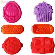 5 Style Silicone Cake Mold Pan Muffin Chocolate Pizza Pastry Baking Tray Mould