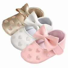 0-18M Baby Soft Sole Leather Shoes Newborn Girl Toddler Crib Moccasin Prewalker