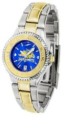 South Dakota State University Ladies Stainless Steel and Gold Tone Watch