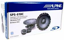 "NEW Alpine SPS-610C 240 Watt 80 RMS Component 2-Way 6.75"" Car Speakers System"