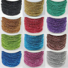 Wholesale 5/10/100 Meter Aluminum Chain Jewelry Finding 12Colors Crafts DIY