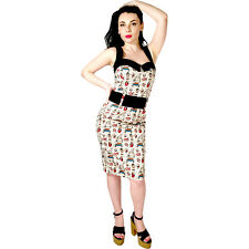 Switchblade Stiletto Tattooed Sailor Darling Dress Rockabilly Pin Up