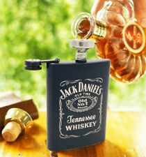 9oz Stainless Steel Leather Flask Alcohol Whiskey Liquor Pocket Hip Flasks