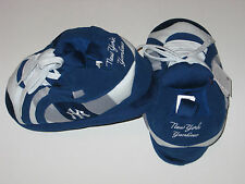 New York Yankees Adult Size Fuzzy Non-Skid Plush Sneaker Slippers