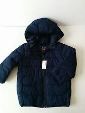 Boys CHILDRENS PLACE WINTER HOODED PUFFER COAT SNOW JACKET Navy / Red NWT 5T