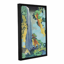 Ono Waterfall on the Kisokaido' Gallery Wrapped Floater-framed Canvas Art Print