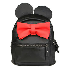 New leather women bag Korean sweet bow College Wind mini backpack for Baby Girls