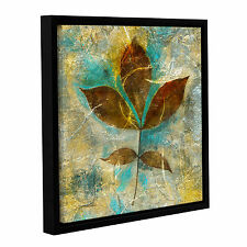 'Branch with Golden Leaves' Gallery Wrapped Floater-framed Canvas