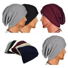 Fashion Cool Unisex Baggy BEANIE oversize slouchy Knit Hat men women Chic Cap