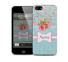 Personalised Floral Rose Blue Pink-Glossy Phone Cover Case Iphone/Galaxy Samsung