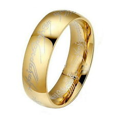 Men Women Lord of the Rings The One Ring Lotr Titanium Steel Ring Size 6-12