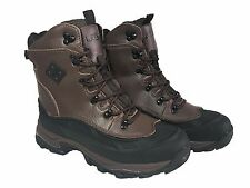 LABO Men's Winter Snow Work Boots Shoes Waterproof Insulated102A2 (Black&Brown)