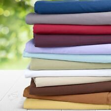 "Real 800TC 100% Egyptian Cotton Ultra Soft Solid 4PC Sheet Set 17""Deep CA Size"