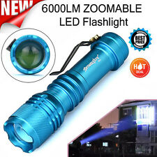 6000LM Super Bright CREE Q5 AA/14500 3 Modes ZOOMABLE LED Flashlight Torch Lamp