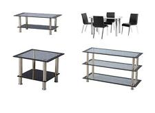 Harlequin Glass Chairs & Tables Range - Dining Chairs Coffee Lamp Tables