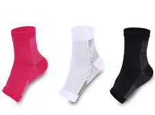 1Pair Foot Anti Fatigue Support Ankle Sleeve Compression Arch Heel Relief Socks