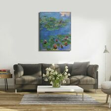 Red Water-Lilies 1908 by Claude Monet Framed Stretch Canvas Wall Art Home Decor