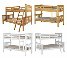 Neptune Single Small Double Bunk Bed & Triple Sleeper - White or Pine Finish