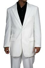 New Mens 2 Button White Dress Suit Jacket& Pants 60R 60 Single Breasted Style