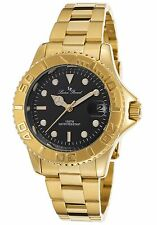 NEW Lucien Piccard LP-12652-YG-11 Womens Walen Collection Ion Yellow Gold Watch