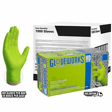 Gloveworks Green Diamond Textured Nitrile Industrial Disposable Gloves, Case, 1