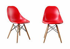 Set of 2 Modern Designer Dining Room Chair Plastic Chair Side Chair 4 Colors