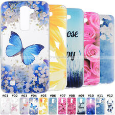 For LG Smartphone	 Shockproof Gel Soft TPU Cover Silicone Rubber Pattern Case