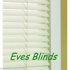Made to measure Faux wood Cream Plastic venetian blinds 35mm or 50mm Slats