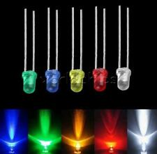 100/500/1000PCS 3mm LED Light Bulb Emitting Diode White Green Red Blue Yellow