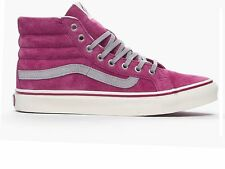 VANS SK8-HI SLIM PINK PURPLE SIZE 4.5 37 WOMENS GIRLS TRAINERS HIGH TOPS SKATE