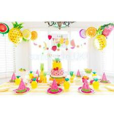 10Pcs Beach Party Xmas Birthday Party Decor Tropical Fruits Helium Foil Balloons