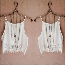 Tops Womens Lace Blouse Summer Tee Tops T-Shirt Sleeve Tank Short Casual
