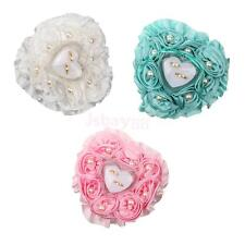 Rose Decorated Jewelry Box Ring Pendant Storage Organizer Case Wedding Xmas Gift
