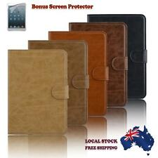 iPad Leather Cover for Mini 1 2 3 Folio Stand Case Wallet Free Screen Protector