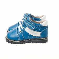 Little Blue Lamb Boys Blue & White Squeaky Boots