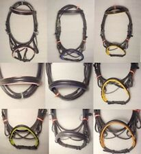 YESRD Genuine Leather Cross Over Bitless Bridle with Reins LBB- 03