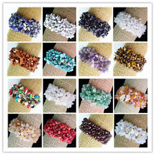 LD10 Mixed Gemstone Chip Bead Stretchy Bracelet 7 inch